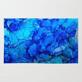 Blue Petunias Rug