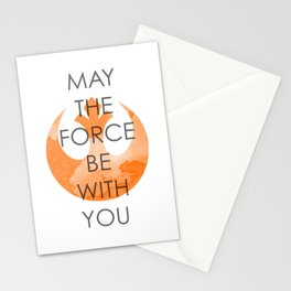 May the Force Be With You Stationery Cards