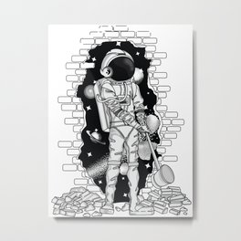Astronaut on the loose Metal Print