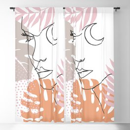 Jungle Line Girl Blackout Curtain