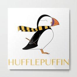 Hufflepuffin Metal Print