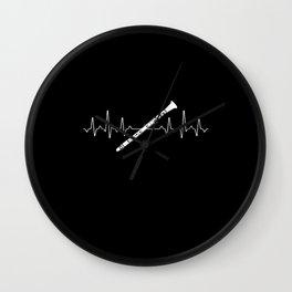 Clarinet Heartbeat Wall Clock