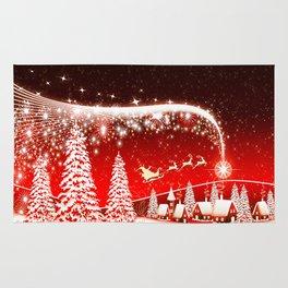 Santa Beautiful Christmas Rug