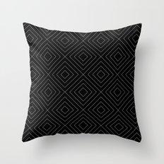 Black Squares Throw Pillow