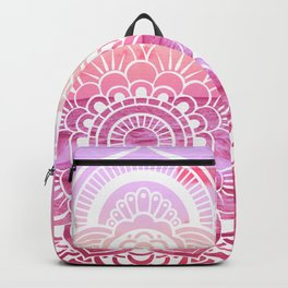 Water Mandala Hot Pink Fuchsia Backpack