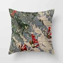 Red Summer Trumpets 2 Throw Pillow