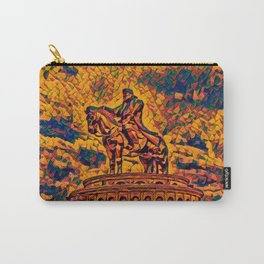 Mongolia Chinggis Khan Equestrian Statue Artistic Illustration Warrior Shapes Style Carry-All Pouch