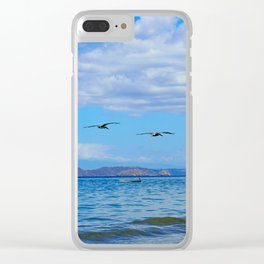 Deep Blues Clear iPhone Case