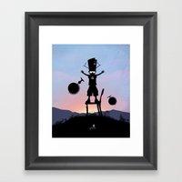 Galactu s Kid Framed Art Print