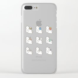 Dad's beer belly Clear iPhone Case