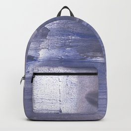 Slate gray stained watercolor Backpack