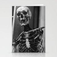skeleton Stationery Cards featuring Skeleton by Evan Morris Cohen