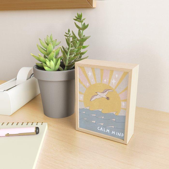 Calm mind Framed Mini Art Print