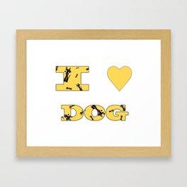 I LOVE DOG Framed Art Print