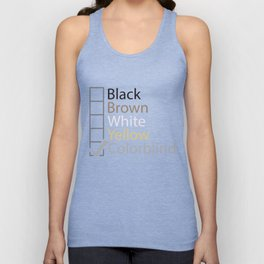 Colorblind Unisex Tank Top