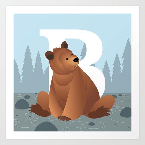B is for Bear Art Print