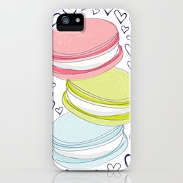 For the Love of Macarons iPhone Case