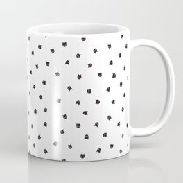 Black Cats Polka Dot Coffee Mug