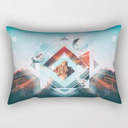 Abstract Geometric Collage I Rectangular Pillow