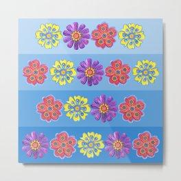 Stacks of Flowers Metal Print