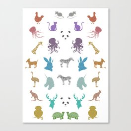Glitter Animals B Canvas Print