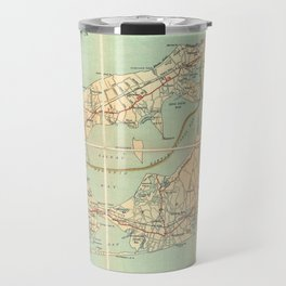 Vintage Road Map of Long Island (1905) Travel Mug