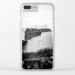 O'Brien's Tower of Ireland - Cliffs of Moher Holga Black and White Double Exposure Clear iPhone Case