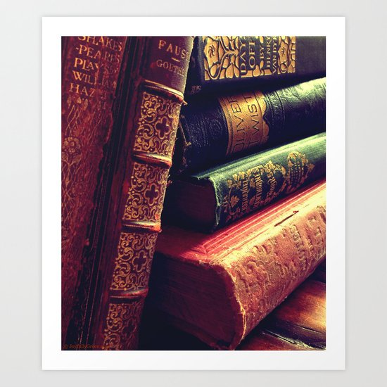 Antique Books Art Print