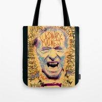 bukowski Tote Bags featuring Charles Bukowski by Kori Levy illustration & design