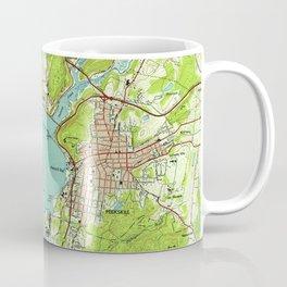 Vintage Map of Peekskill New York (1947) Coffee Mug
