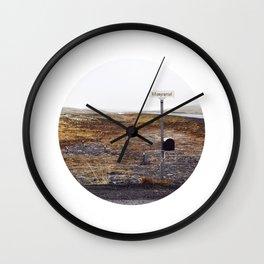 Post box, Iceland Wall Clock