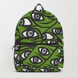 Freddie Eyeballs Avocado Green Backpack