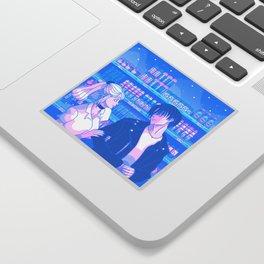 Tokyo BF & GF w/ Levi and Petra - Nostalgic Anime Interpretation Sticker Sticker