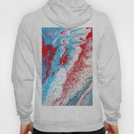 Marble Red Blue Paint Splatter Abstract Painting by Jodilynpaintings Red Hoody