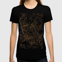 Black and gold Florence map T-shirt