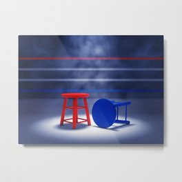 Boxing fight Metal Print