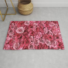 Pink Rose Buds Rug