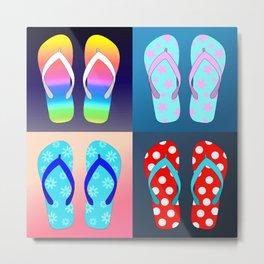 Pop Art Flip Flops Metal Print