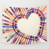 equality Wall Tapestries featuring love in every color by shannonblue