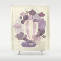 balloons Shower Curtains featuring Balloons by mirimo