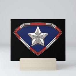 Puerto Rican Superhero - Boricua Hero Puerto Rico Mini Art Print