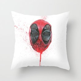 The Emptiness of Masks - Dead pool Throw Pillow
