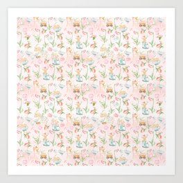 Flower Fairies Flowers and Baby Animals Art Print