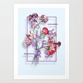 Flowers Bloom Botanicals Vintage Illustration Poster #3 Art Print