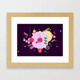Tasty Visuals - Cherry Poppin' (No Grid) Framed Art Print