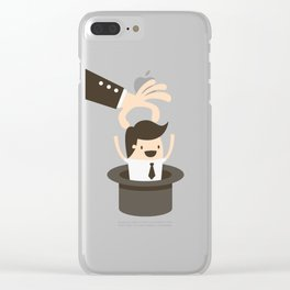 Pulling An Employee Magic Hat Trick Clear iPhone Case