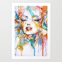 marylin monroe Art Prints featuring Marylin Monroe by Maria Zborovska