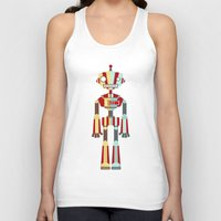 robot Tank Tops featuring Robot by LindseyCowley