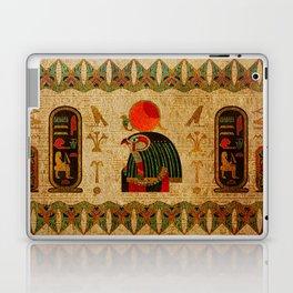 Egyptian Horus Ornament on Papyrus Laptop & iPad Skin