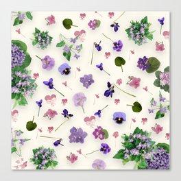 Delicate Violets Canvas Print